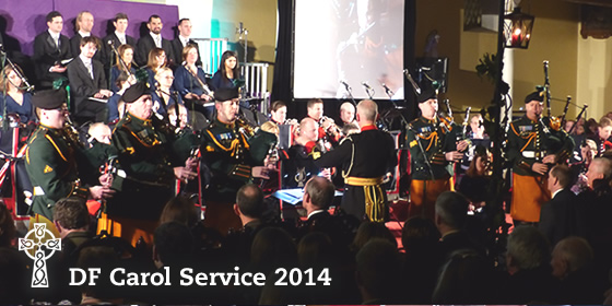 Pipers from the DF School of Music at Arbour Hill Carol Service
