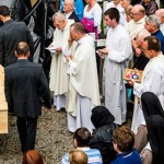 Coffin of Sr Thérèse is carried to her grave
