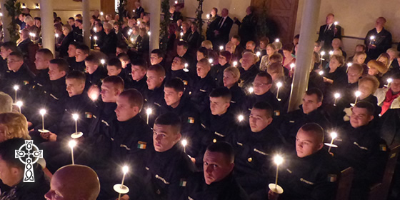 Naval Service recruits at last year's Carol Service in Arbour Hill